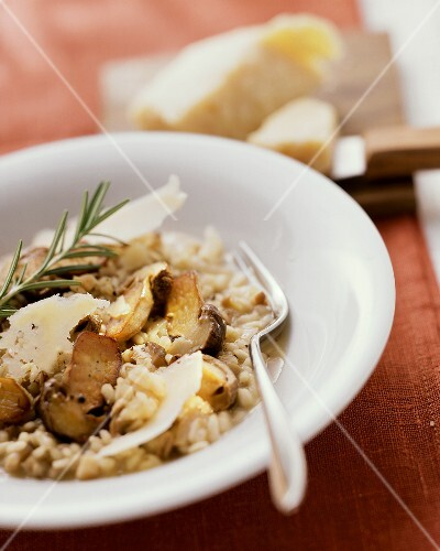 Risotto ai porcini (risotto with ceps and Parmesan)