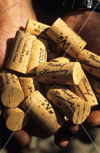 Corks from the Weinhof Herrenberg, Schoden, Germany