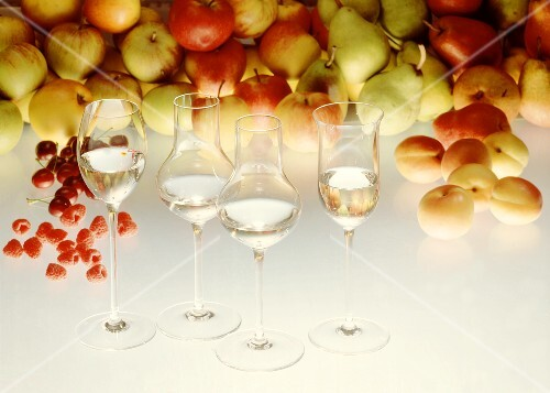 Glasses with Fruit Brandy