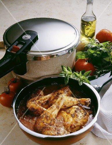 Provence-style Chicken in a Steamer