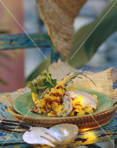 Creole chicken salad with pineapple