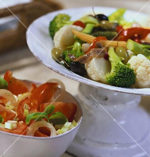 Insalata di rinforzo e di pomodori (broccoli- & tomato salad)