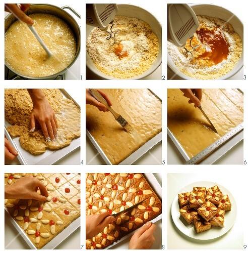 Baking honey cake