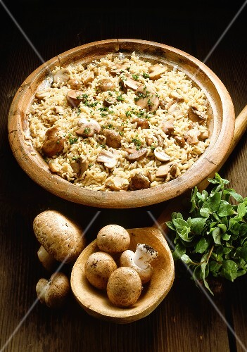 Mushrooms with Risotto