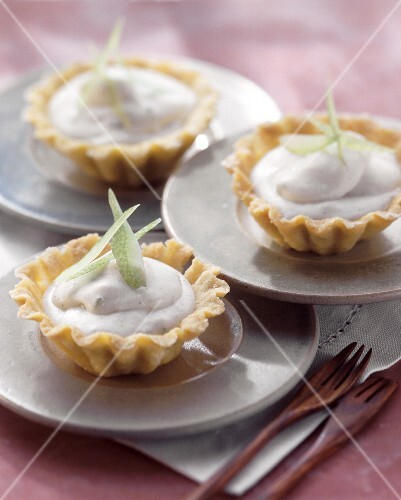 Ricotta tartlet with candied lemon peel