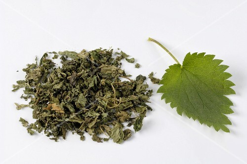 Nettle leaves, fresh and dried