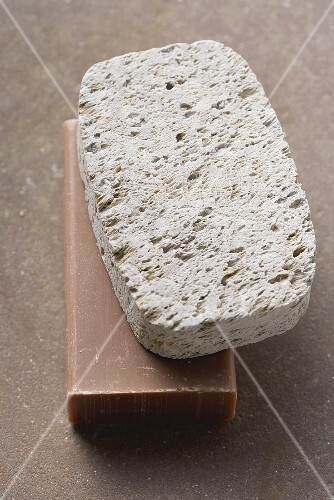 Pumice stone and soap