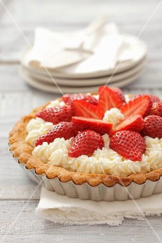 Strawberry and cream tart