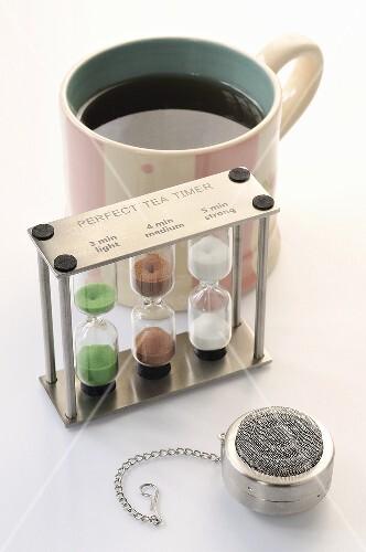 Teetasse, Tea Timer und Teeei