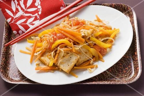 Vegetable dish with tofu