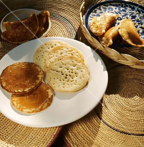 Kataif (Small sweet yeasted pancakes from the Middle East)