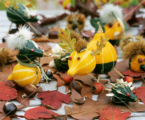 Amusing, home-made pumpkin characters