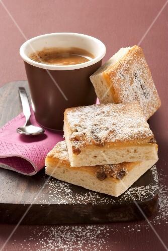 Eierschecke (Cake with custard topping)