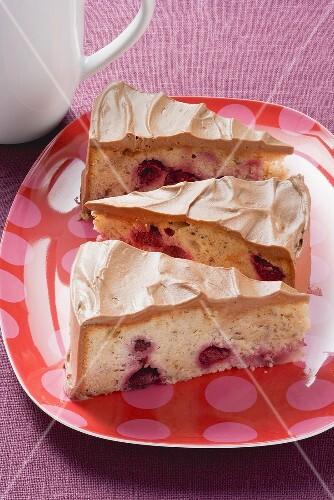 Hazelnut and cherry cake
