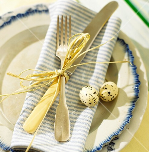 Place-setting for the Easter table