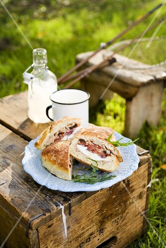 Pan bagnat (French sandwiches) for fishing trip