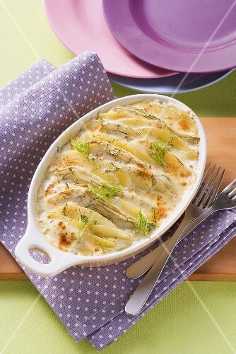 Fennel and potato gratin