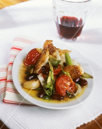 Pollo alla veneziana (Chicken braised in wine, Italy)