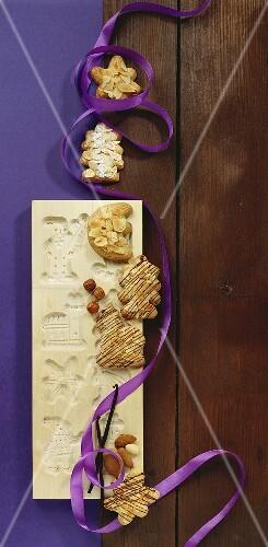 Almond Spekulatius Cookies With Wooden License Images