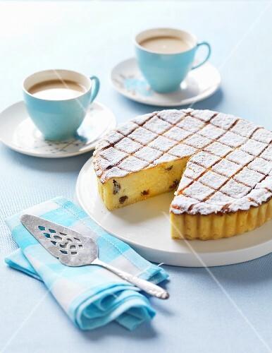 Ricotta cheesecake and coffee