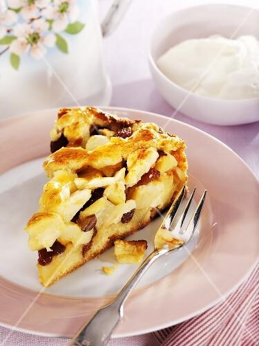 A piece of Appeltaart (Dutch apple pie)