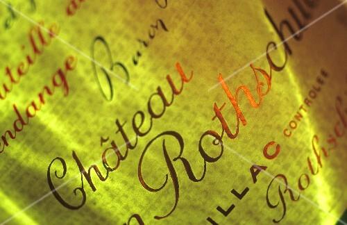 Château Mouton-Rothschild wine label