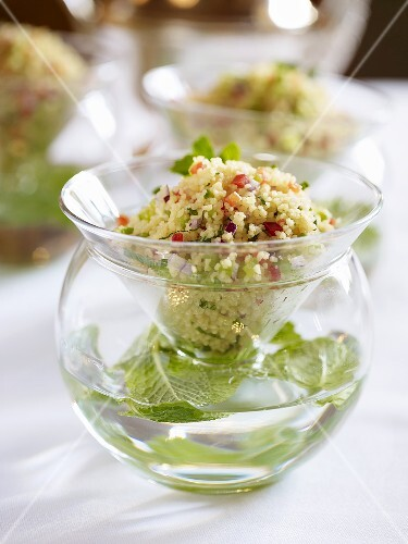 Couscous tabbouleh with fresh mint