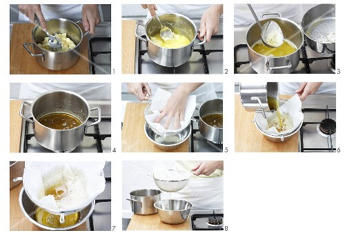 Making beurre noisette