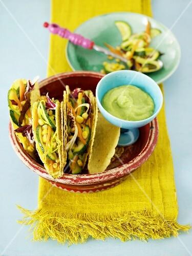 Vegetable tacos with guacamole (Mexico)