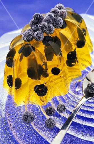 Jelly with blueberries