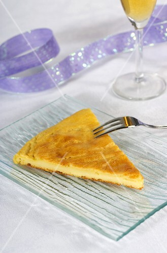 A slice of galette des rois from the Franche-Comte region (France)