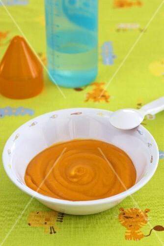 Carrot and potato puree (baby food)
