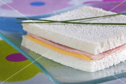 A cheese and ham sandwich