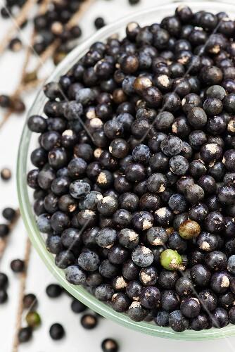 Acai berries in a dish