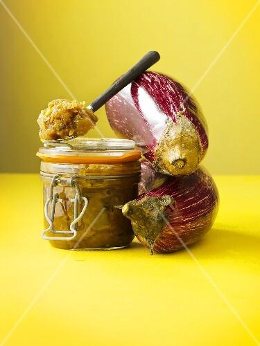 Aubergine chutney