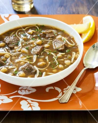 Harira (Lamb and chick-pea soup, Morocco)