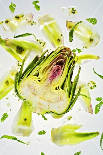 Artichokes with herb vinegar