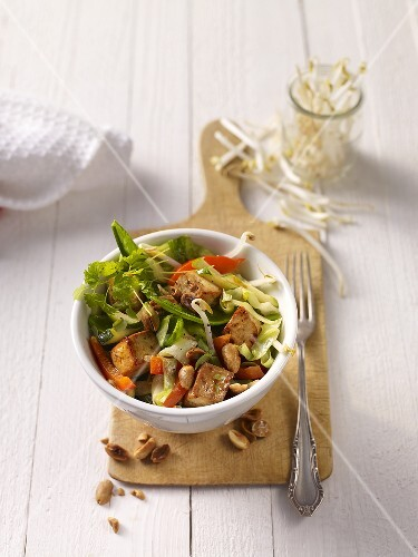Fried tofu with vegetables