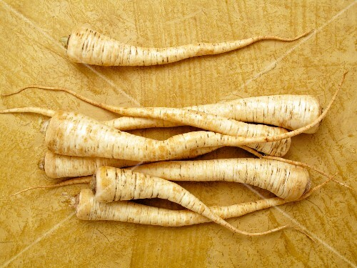 Parsnips, seen from above
