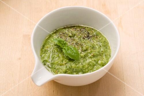 Pesto alla genovese (basil sauce, Italy)