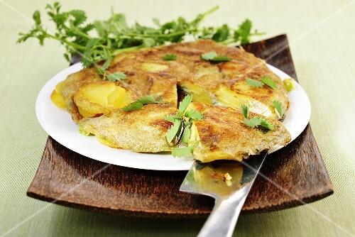 Potato tortilla with herbs