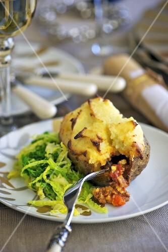 A sheperd's pie jacket potato