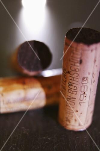 Cork of a 1990 Château Mouton Rothschild