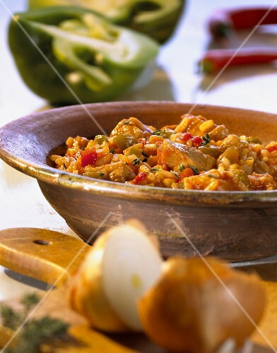 Savoury rice with meat (Balkans)