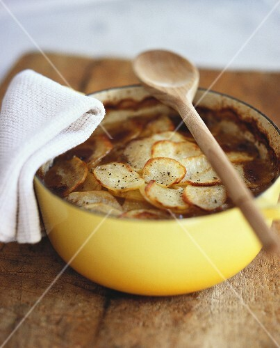 Lancashire hotpot (Meat and potato casserole, UK)