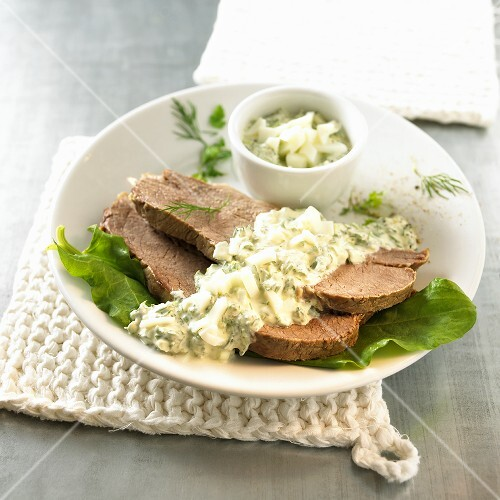 Ox breast with dill sauce