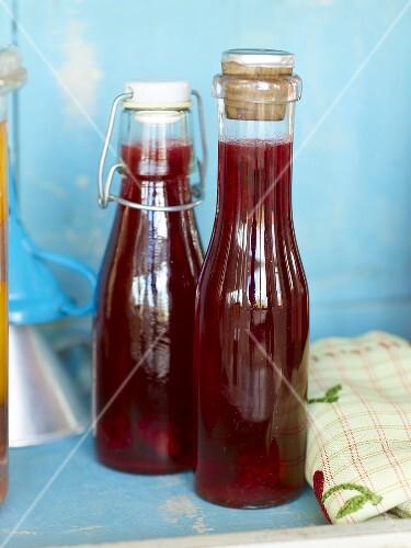 Homemade blackberry vinegar