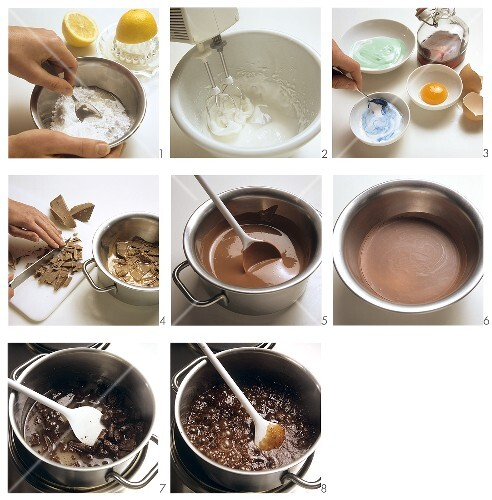 Glaze for biscuits and sweets