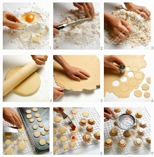 Baking German terrace biscuits (Terrassen)