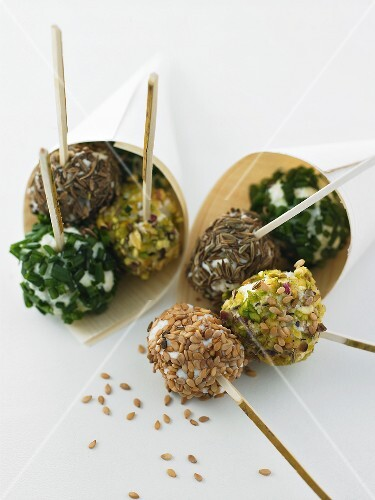 Brocciu balls coated in herbs & spices (goat or sheep's cheese)